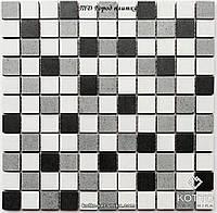 Мозаика СМ3028 С3 Graphit Gray White - керамическая мозаика 300х300