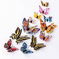 3D Бабочки 12 шт Для Декора Светятся в Темноте Разноцветные N1 . Декор, Обои, Метелики