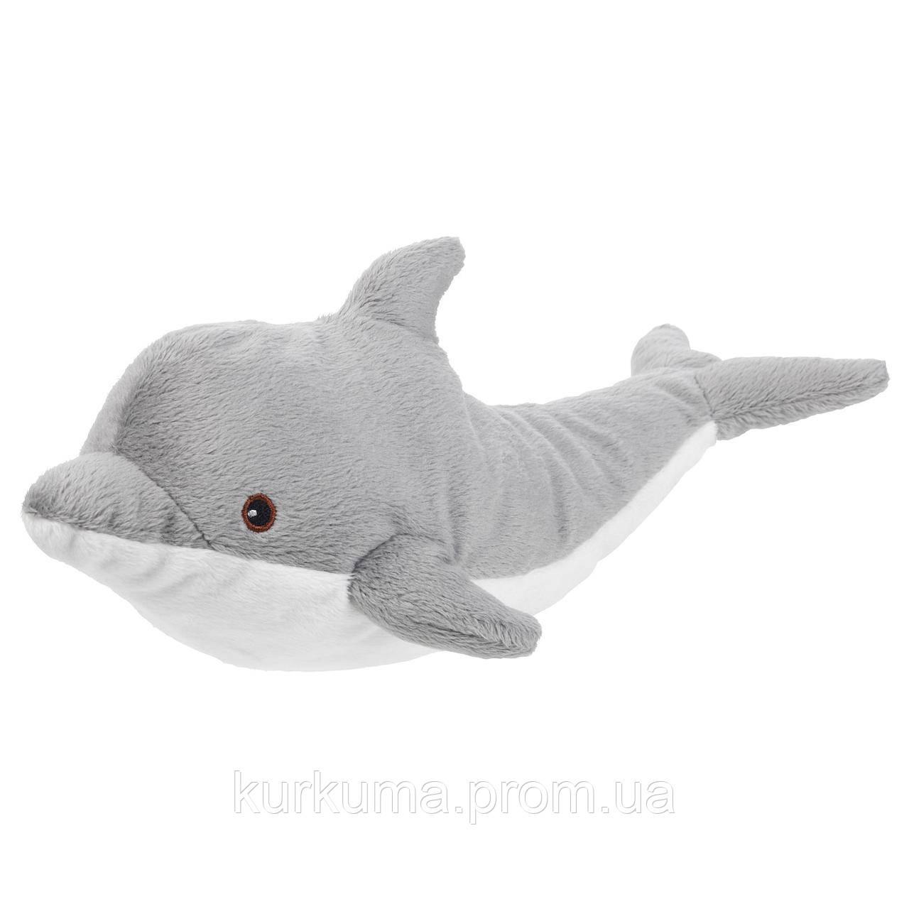 IKEA GENOMBLOT Мягкая игрушка, дельфин, 30 см (804.423.58)