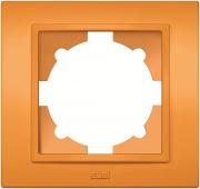 Рамка ABB El-bi Zena четырехместная универсальная оранжевая глянцевая, Турция