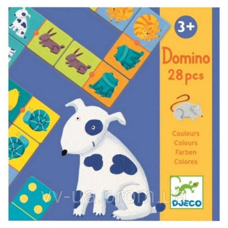 Игра детское домино Djeco Цвета животных (DJ08111)