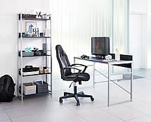 Столик офисный стильный письменный, компьютерный на металлических ножках , фото 2
