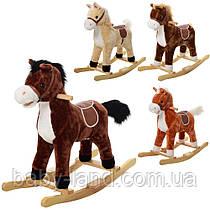 Качалка лошадка детская музыкальная MP 0080