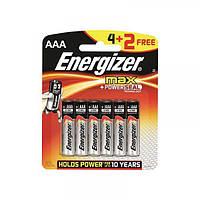 Батарейка Energizer AAA MAX уп. 4+2 шт.