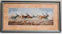 """Картина, вишита хрестом """"Антилопи"""", 32х60 см"""