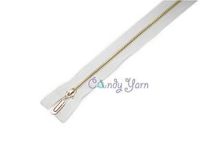 Zipper Металлическая молния, звено GOLD,белая,65см.1б.