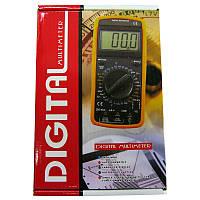 Мультиметр цифровой DT-9208A, со звуком и датч.темп.