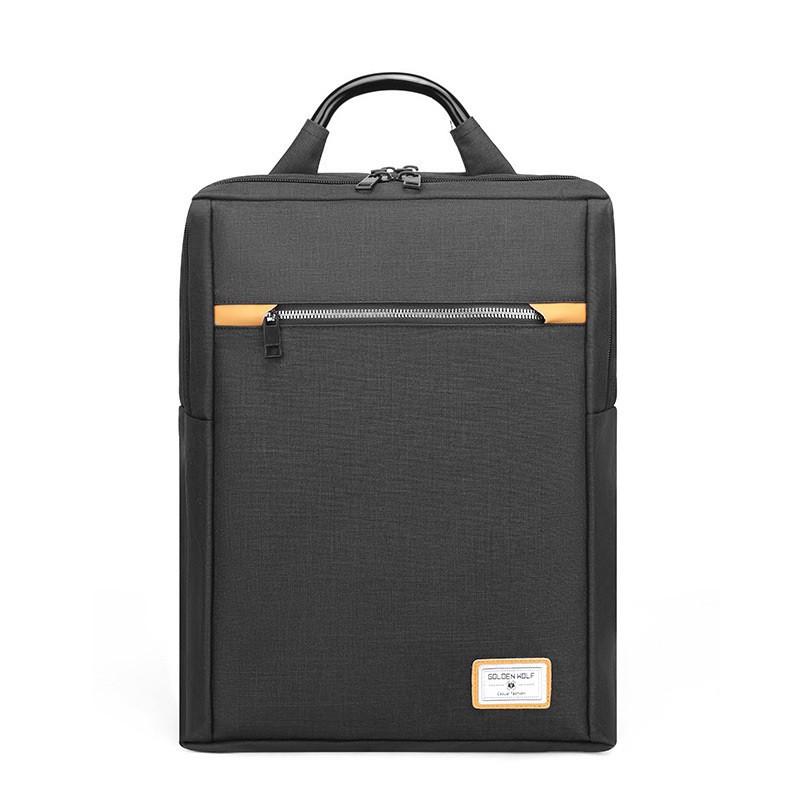 Тканевый городской рюкзак Golden Wolf GB00362 для ноутбука до 15,6, USB портом и тремя отделениями, 22л