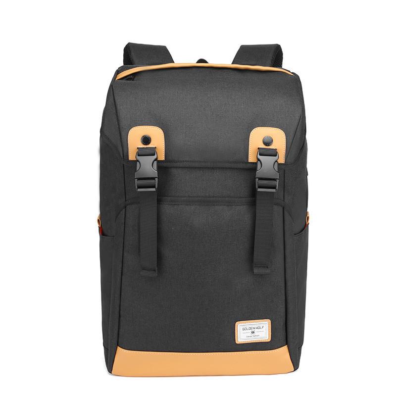Тканевый рюкзак-мешок Golden Wolf GB00367 для ноутбука до 17, USB портом и тремя отделениями, 25л