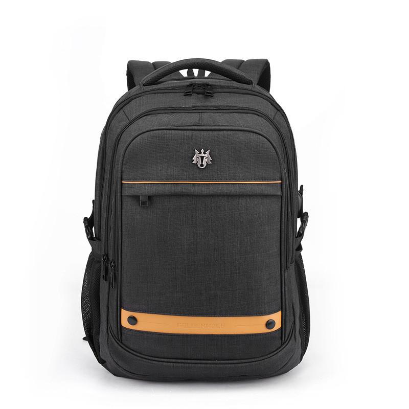 Тканевый городской рюкзак Golden Wolf GB00370 для ноутбука до 17, USB портом и отверстием для наушников, 25л
