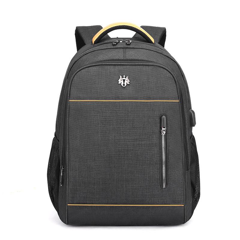Тканинний міський рюкзак Golden Wolf GB180018 для ноутбука до 15, USB портом і отвором для навушників, 23л