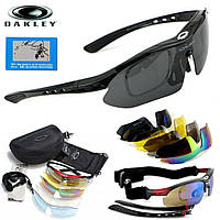 Тактические очки «Oakley Polarized» с 5-ти линзами Чёрный