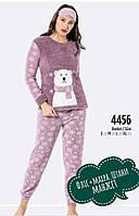 Махровая женская  пижама с повязкой S, M, L, Xl