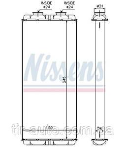 Радиатор печки MERCEDES ATEGO 98- ( NISSENS ) 72048