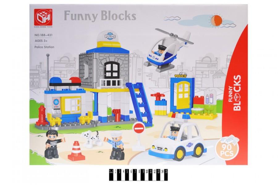 """Конструктор великі блоки Funny Blocks 188-431 """"Поліцейську дільницю"""", 90 дет, поліцейська серія"""