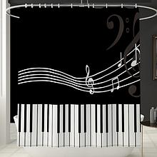 Шторка в ванную «Музыка» YL202 размер 170×180 см