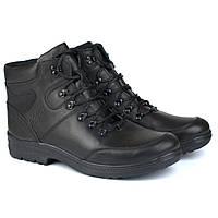 Кожаные зимние мужские черные ботинки Rosso Avangard Lomerback Black Leather, фото 1