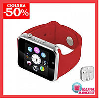 Умные смарт часы А 1,часы Smart Watch A1 (красный), умные часы А1 и наушники в подарок
