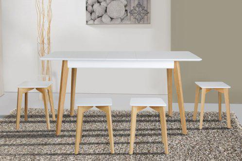 Обеденный стол Сингл (Ножки дуб) Микс Мебель