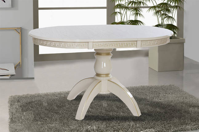 Обеденный стол Престиж (Слоновая кость с платиной), фото 2