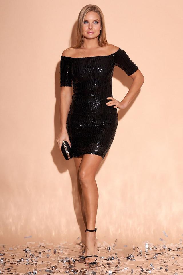 Фото Облегающего платья с пайетками Мишель