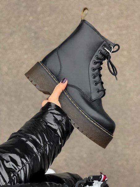 Черные зимние ботинки Dr. Martens high Fur (две модели)