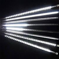 Светодиодная гирлянда Тающие сосульки / Метеоритный дождь длина 3,5 м Белая 192 Led лампы электрическая