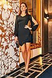 Вечернее платье мини с пайетками, фото 2