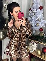 Платье женское, стильное, леопардовое, 211-0412, фото 1