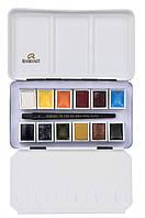 Набор акварельных красок REMBRANDT PORTRAIT 12 кювет + кисть в металлическом пенале 05838696