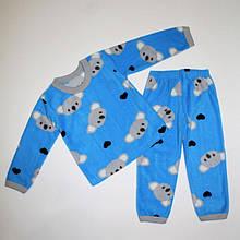 Піжама для хлопчика фліс з малюнком 92-116 розміри