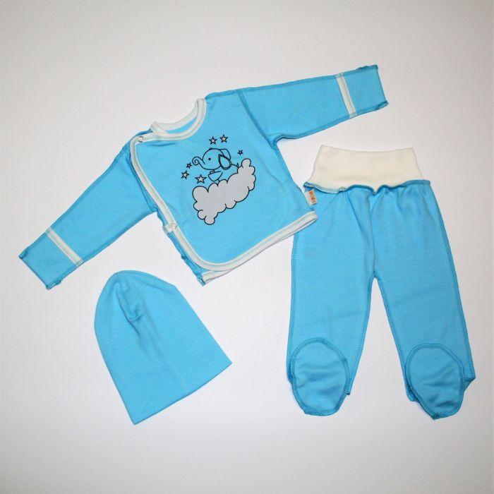 Набір для новонародженого повзунки, льоля, шапочка (інтерлок) 56, 62 розміри