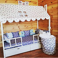 Кроватка Домик, Балдахин на кроватку,чехол на кроватку домик,шатер
