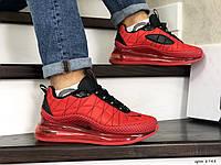 Мужские зимние кроссовки на термопрокладке в стиле Nike Air Max 720, термоплащевка, красные с черным 43 (27,5 см)