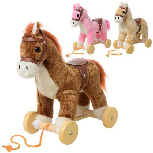 Каталка лошадка на веревке MP 0085 для детей от 1 года