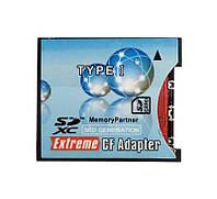 Адаптер переходник флеш карт SDXC на CF Type I (узкий) Ultra Speed Canon 5D Mak III, Nikon D700