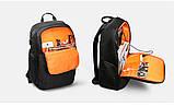"Рюкзак городской Kingsons KS3143w 15.6""  USB-разъем влагостойкий темно серый 30 л, фото 2"