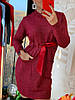 Платье-гольф женское, стильное, теплое, цвет красный, 211-0868-2