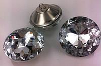 Стеклянные пуговицы 30 мм огранка , Алмазная Роза ,  для диванов