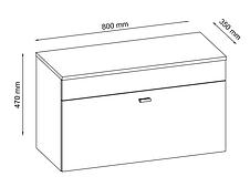 Банкетка белый / дуб с емкостью для хранения, фото 3