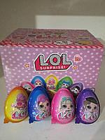 Яйцо шоколадное пластиковое LOL 24 шт.