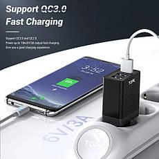 Оригінальне мережевий зарядний пристрій TOPK B354Q на 3 USB порту Quick Charge 3.0 White, фото 3