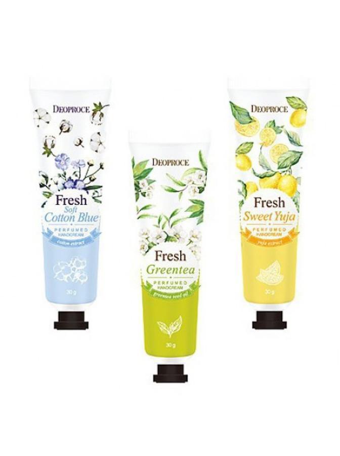 Парфюмированный крем для рук Deoproce Fresh Perfumed Hand Cream
