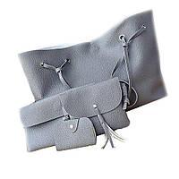 Женская сумка LADY BAG 2B ТЕМНО-СЕРАЯ, Набор сумок 4 в 1, Сумка из эко кожи, Большая сумка для женщин