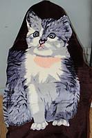 Полуторное акриловое плед-одеяло котёнок