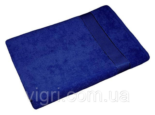 Полотенце махровое Азербайджан, 40х70 см., синее