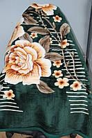Двуспальное акриловое плед-одеяло розы