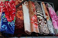 Плед-одеяло акриловое Евро размера - Цветы