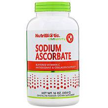"""Буферизованный витамин С, NutriBiotic """"Sodium Ascorbate"""" кристаллический порошок (454 г)"""