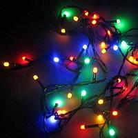 Гирлянда 100LED (ЧП) 9м Микс(RD-7127), Разноцветная гирлянда, Новогодняя гирлянда, Многорежимная гирлянда огни